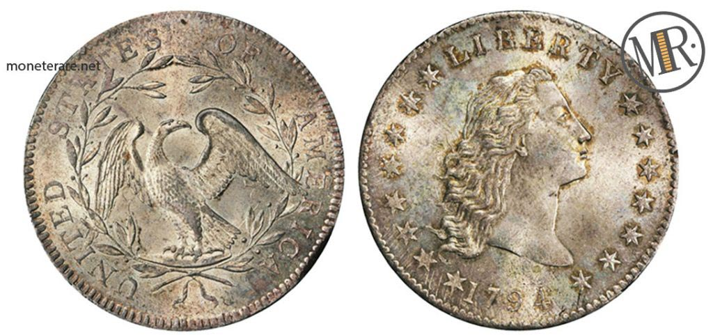 1 dollaro 1794 Flowing Hair