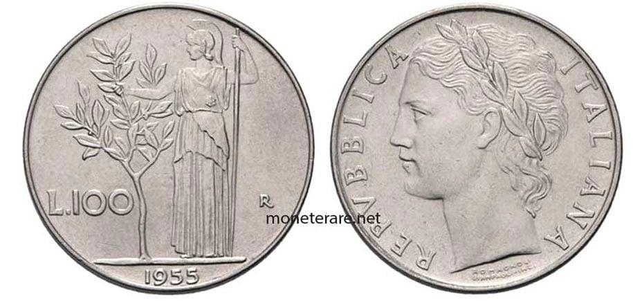 100 Lire 1955 Rare