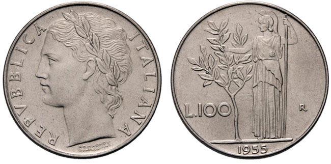 100 Lire di Valore del 1968