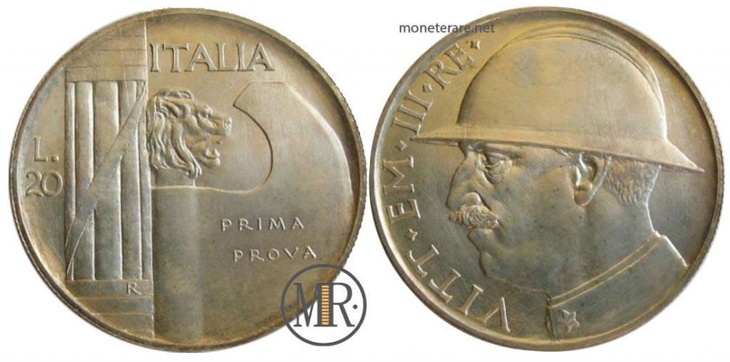 20 Lire 1928 Cappellone - PRIMA PROVA