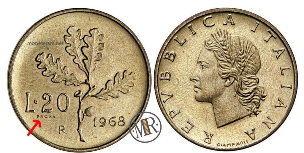 20 Lire 1968 PROVA
