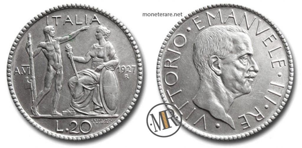 20 Lire Littore 1927