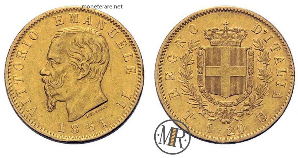 20 Lire Oro - Vittorio Emanuele II