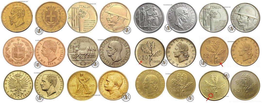 20 lire valore: Valore e Quotazione delle 20 lire Rare Italiane