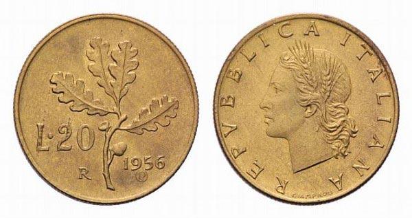 20 lire coin 1956