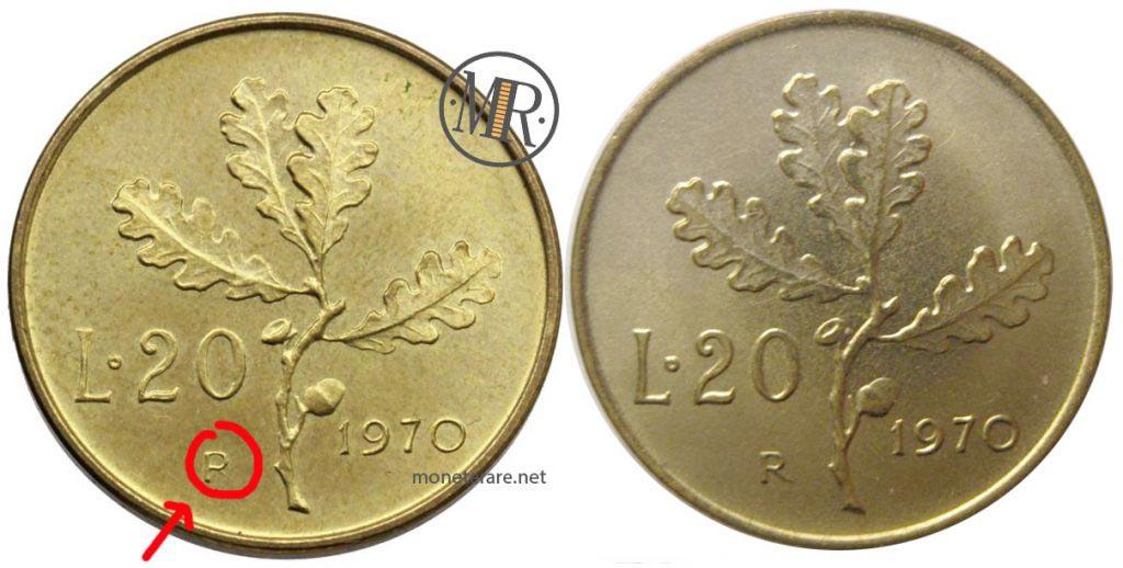 20 Lire 1970 P