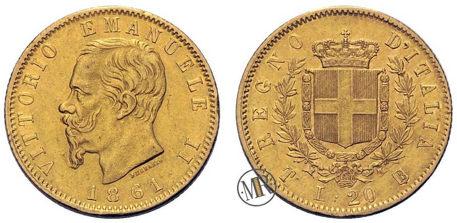 Vittorio Emanuele II 20 Lira Coin