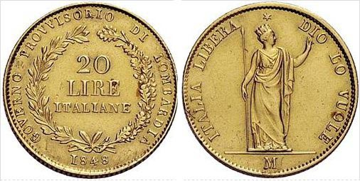 Golden 20 Lire of 1948
