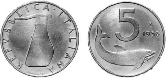 5 lire del 1956 monete rare italiane