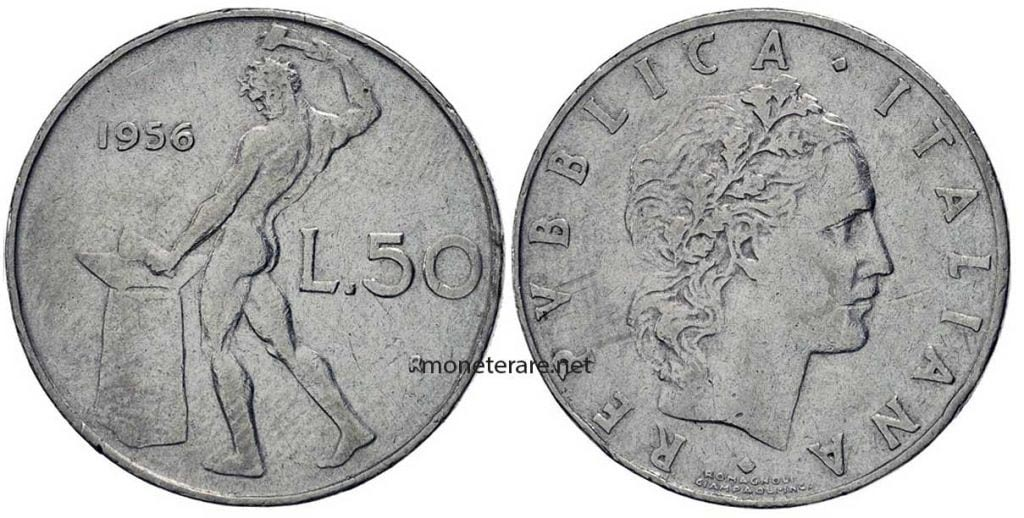 50 Lire 1956 Rare