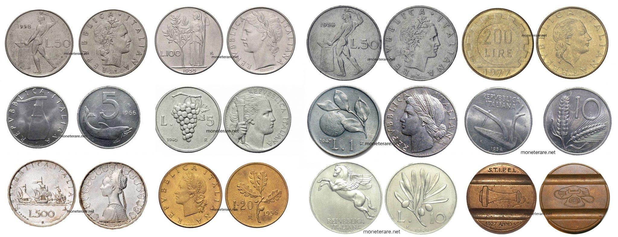 Lire Rare - Scopri il valore delle Monete delle Lire