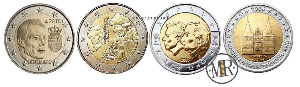 2 euro commemorativi rari