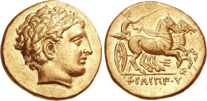 Greek Coin with Apollo