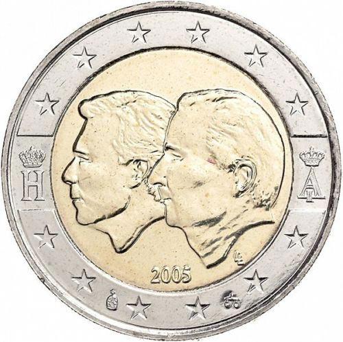 2 euro commemorative coins Belgium 2005
