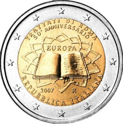 "2 euro commemorative Italian 2007 ""Treaty of Rome"""