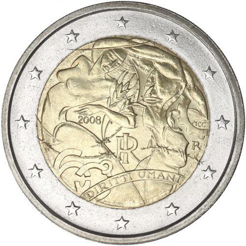 2 euro commemorativi Italiani 2008 Diritti Umani