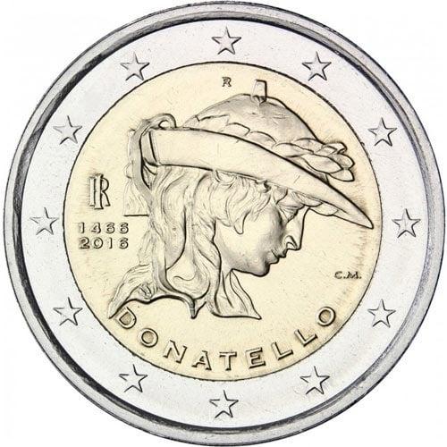2 euro commemorativi Italiani 2016 Donatello