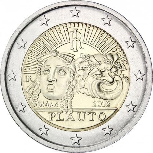 2 euro commemorativi Italiani 2016 Plauto
