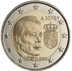 2 euro commemorative coins of Luxembourg 2010