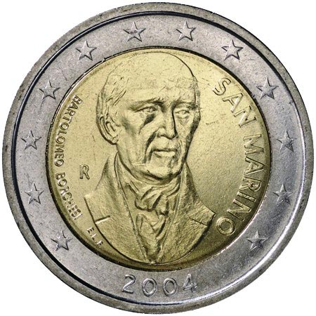 2 euro commemorative San Marino 2004