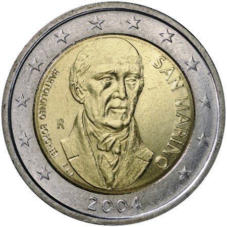 2 euro commemorativi San Marino 2004