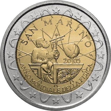 2 euro commemorativi San Marino 2005