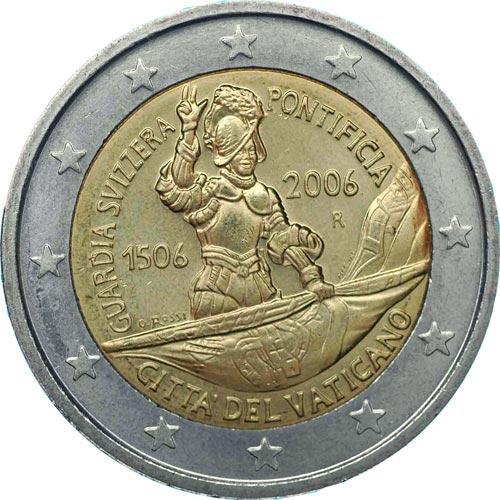 2 euro commemorativi Vaticano 2006