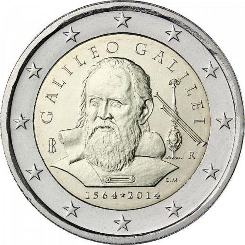 2 euro commemorativi italiani galileo