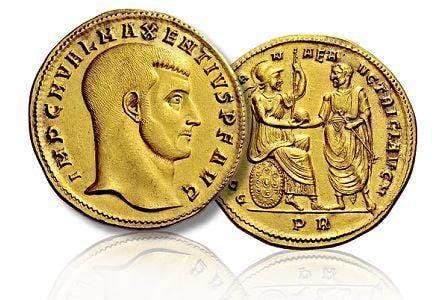 Medaglione aureo monete romane