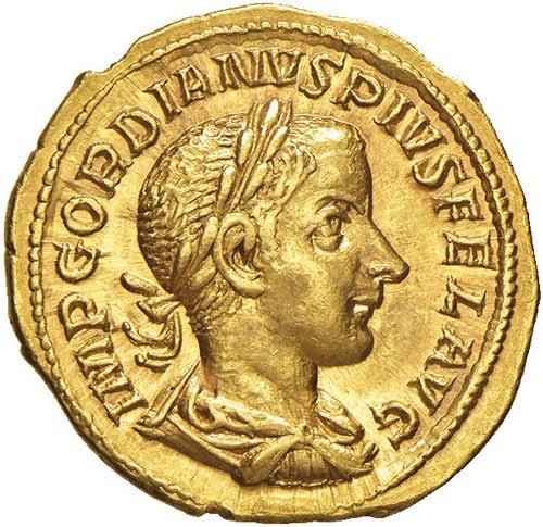 Aureo Coin of Gordiano III Pietas Avgvsti