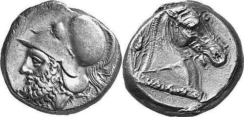 Didracma first Roman silver coins