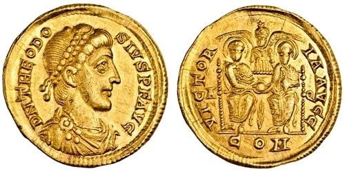 roman coins of theodose I
