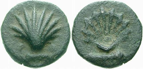 Sestante: Roman Coin with a Shell