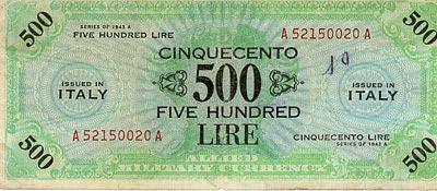 banconota 500 Lire - AM lire