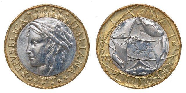 1000 Lire 1997 Sbagliata