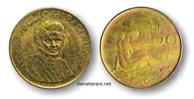 moneta da 200 Lire del 1980