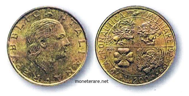 moneta da 200 Lire del 1993