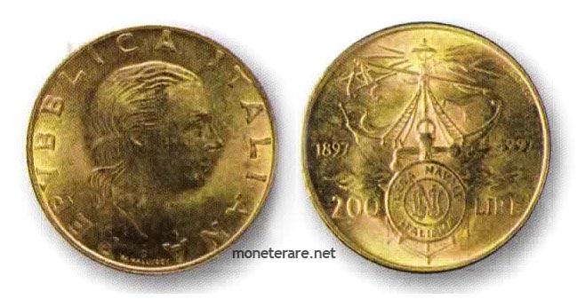 200 lire rare 1997