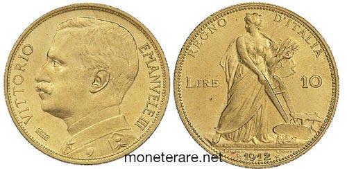 10 Lire Aratrice 1912