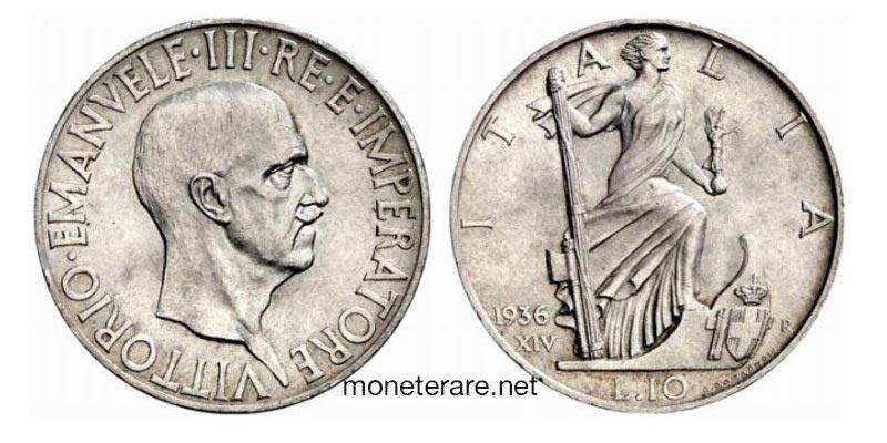 10 Lire Rare 1936