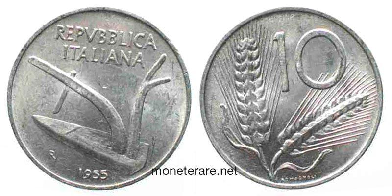 Dieci lire 1955: valore 10 lire rare del 55