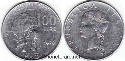 rare coins : italian 100 lire coin 1979