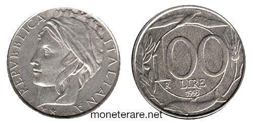 rare coins : italian 100 lire coin 1993