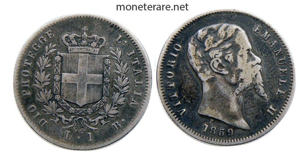 1 Lira Coin Bologna 1859