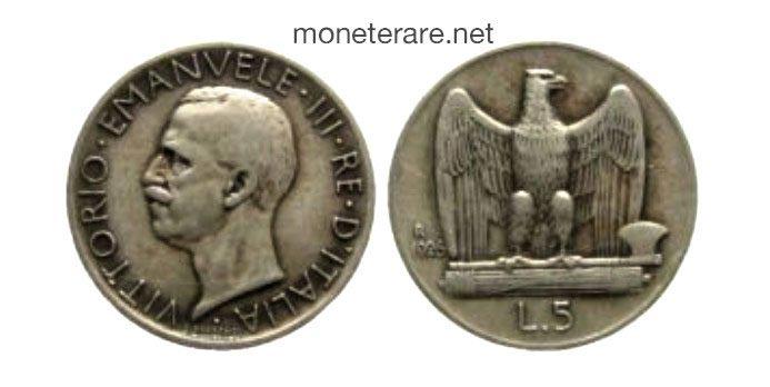 5 Lire Aquilotto 1926