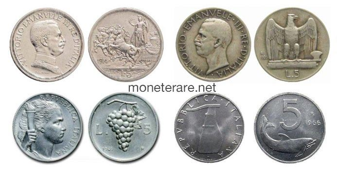 5 Lire Coins | Value of The Italian 5 Lira Coins