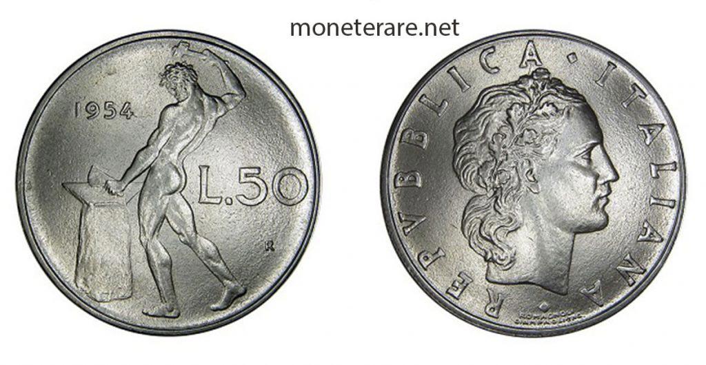 50 lire Vulcano 1954