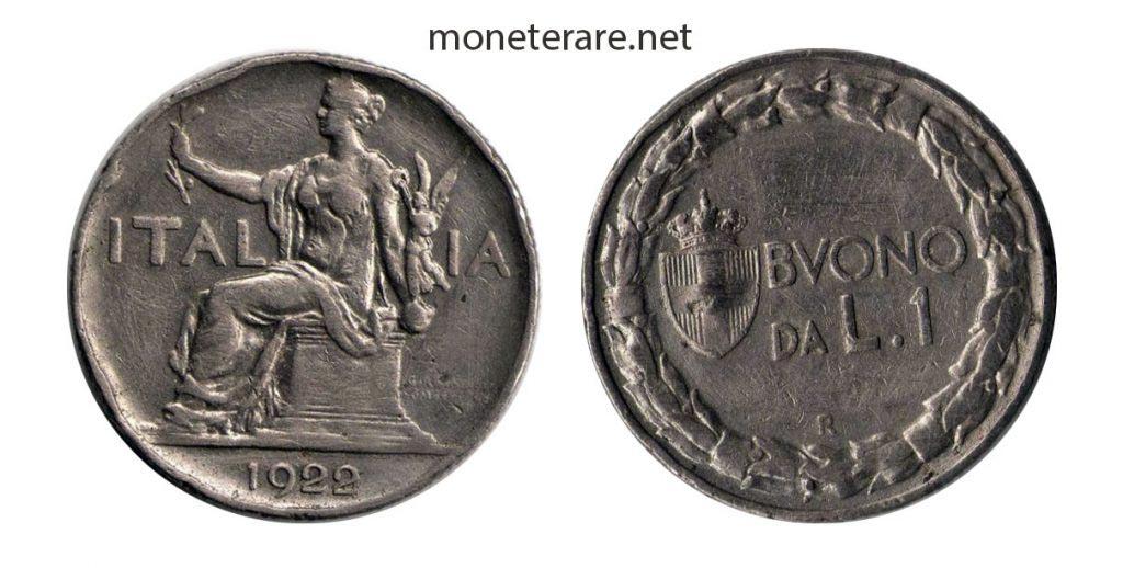 1 Lira Buono 1922 1935