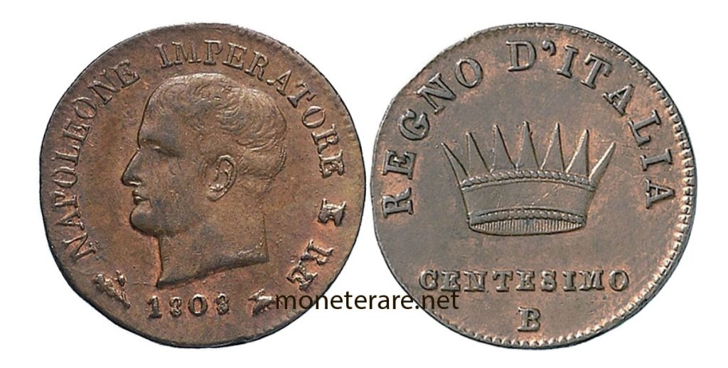 1 Lira Cent coin of Napoleon