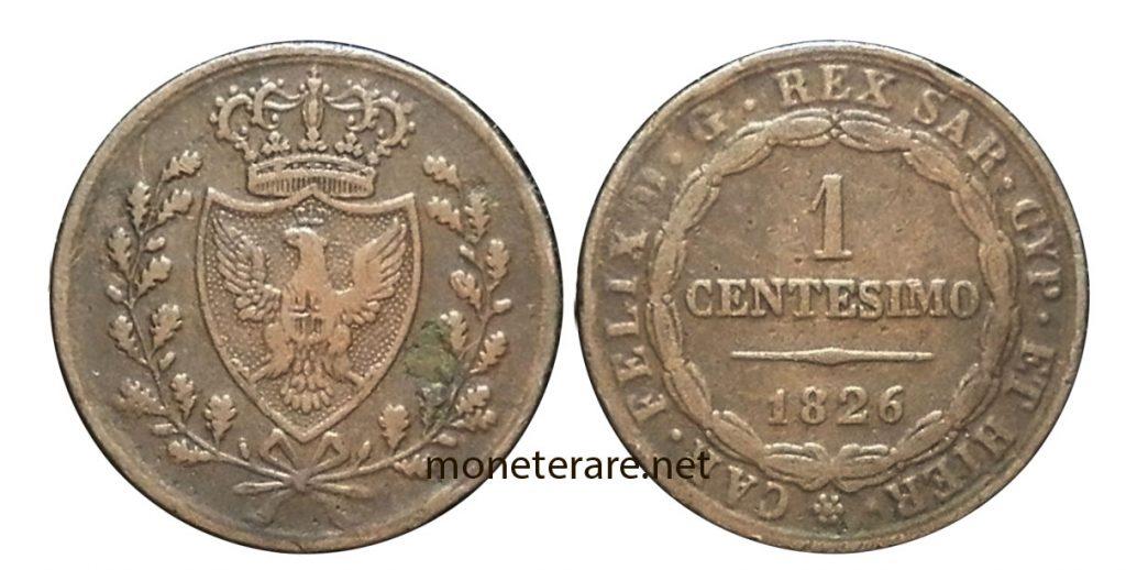 1 Lira Cent Coin of Bologna